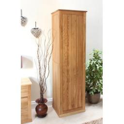 Mobel Oak Tall Shoe Cupboard