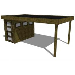 Summerhouse / log cabin Kikbuild Module 550 x 300