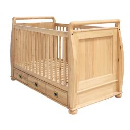 Children Bed Amelie Oak Cot-Bed with Three Drawers