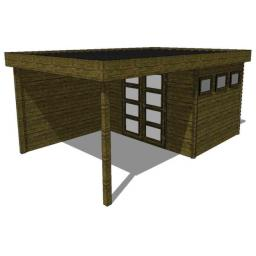 Summerhouse / log cabin Kikbuild Module 400 x 600