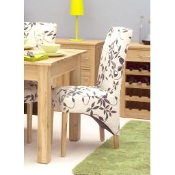 Oak Upholstered Dining Chair (Pack Of Two)