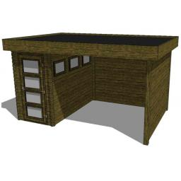 Summerhouse / log cabin Kikbuild Module 450 x 300