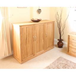Mobel Oak Extra Large Shoe Cupboard
