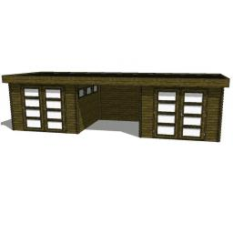 Summerhouse / log cabin Kikbuild Module 850 x 300