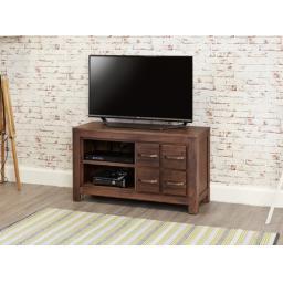 Mayan Walnut Four Drawer Television Cabinet