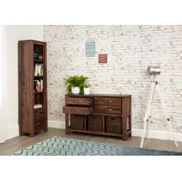 Mayan 4 Drawer Walnut Console Table