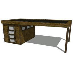 Summerhouse / log cabin Kikbuild Module 600 x 300