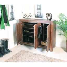Mayan Walnut Extra Large Shoe Cupboard
