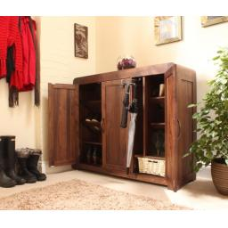Shiro Walnut Extra Large Shoe Cupboard, Furniture