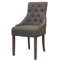 Walnut Accent Upholstered Dining Chair Stone
