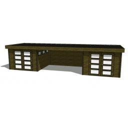 Summerhouse / log cabin Kikbuild Module 1000 x 300