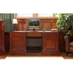 La Roque Twin Pedestal Computer Desk Furniture