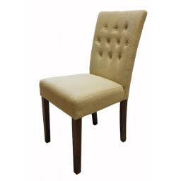 Flare back Upholstered Dining Chair Biscuit