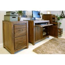 Mayan Walnut Hidden Home Office