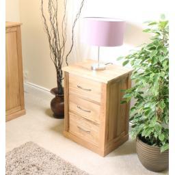 Mobel Oak Three Drawer Lamp Table