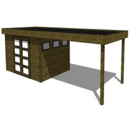 Summerhouse / log cabin Kikbuild Module 800 x 300