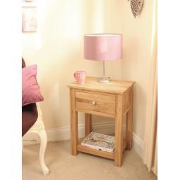 Mobel Oak One Drawer Lamp Table