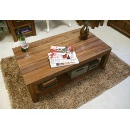 Mayan Walnut Open Coffee Table Furniture