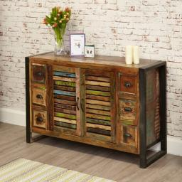 Urban Chic 6 Drawer Sideboard 2 Doors