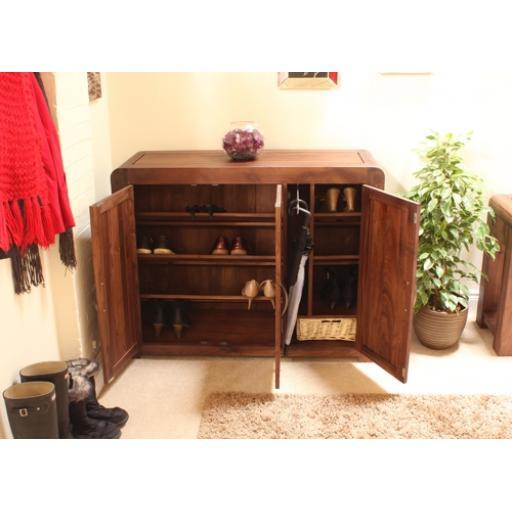 Shiro Walnut Extra Large Shoe Cupboard, Furniture
