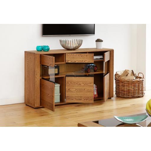 Olten Large Glazed Sideboard Furniture