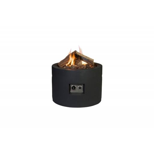 Happy Cocooning Terrace Fireplace Round Black