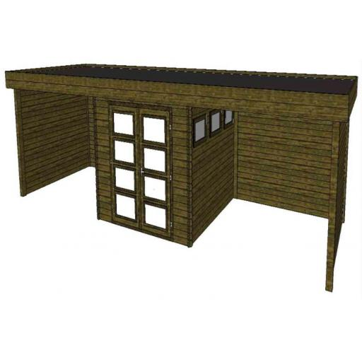 Summerhouse / log cabin Kikbuild Module 900 x 300