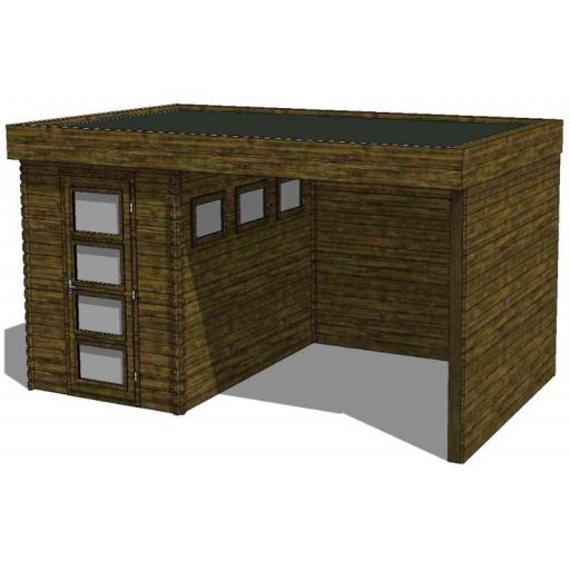 Summerhouse / log cabin Kikbuild Module 500 x 300