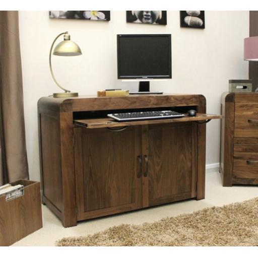 Shiro Walnut Hidden Home Office Furniture