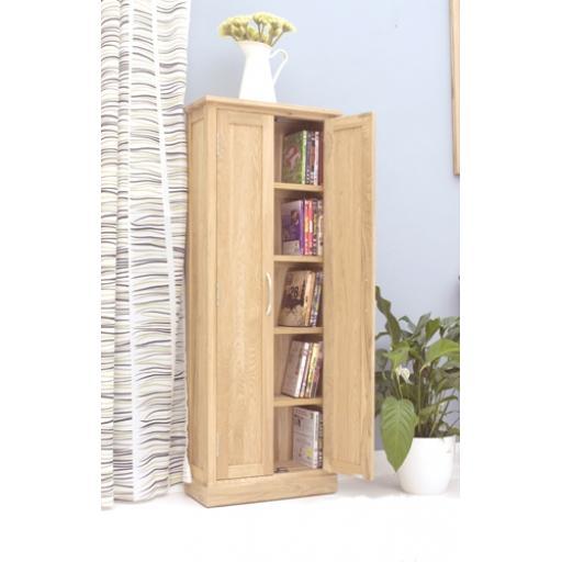Mobel Oak DVD Storage Cupboard