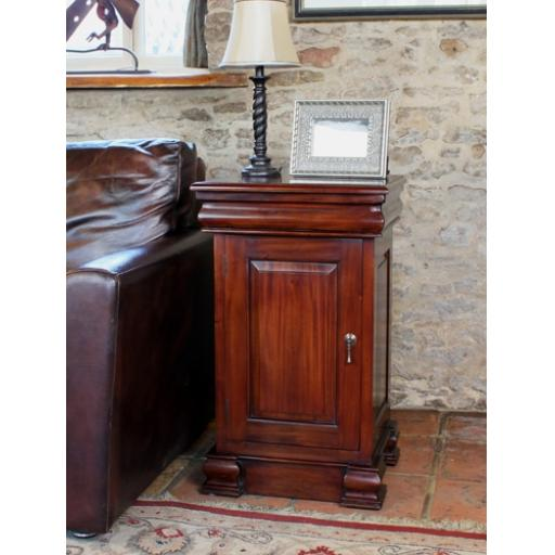 La Roque Lamp Table and Pot Cupboard