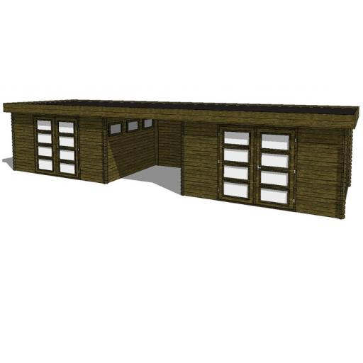 Summerhouse / log cabin Kikbuild Module 1200 x 300
