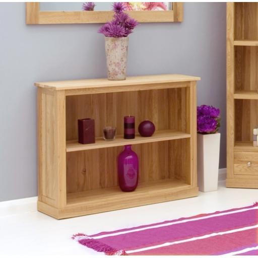 Mobel Oak Low Bookcase