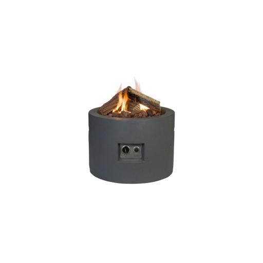 Happy Cocooning Terrace Fireplace Round Anthracite