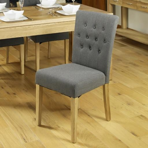 Upholstered Dining Chair Flare Back