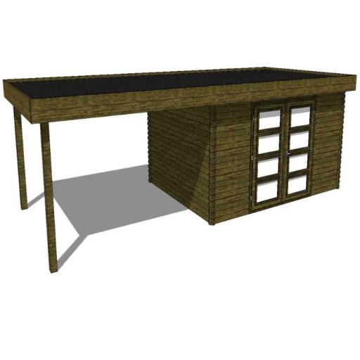 Summerhouse / log cabin Kikbuild Module 700 x 300