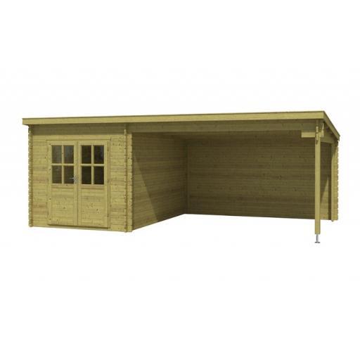 Kikbuild Cabin Renske 625 x 358 cm Stand roof Pressure Impregnated