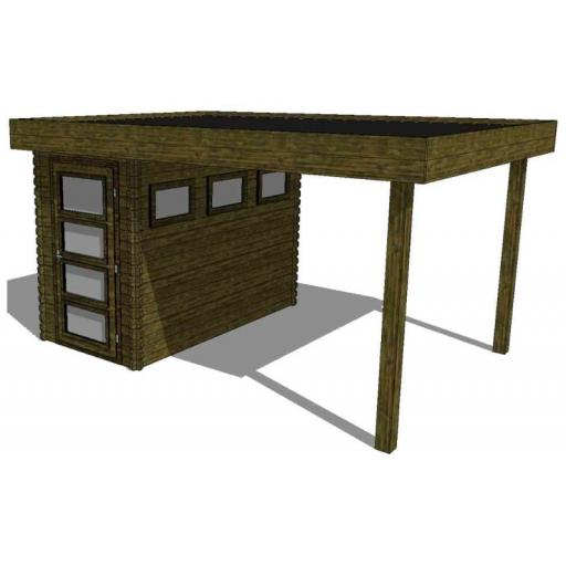 Summerhouse / log cabin Kikbuild Module 400 x 300