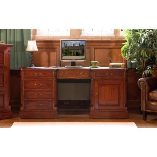 La Roque Twin Pedestal Computer Desk Furniture