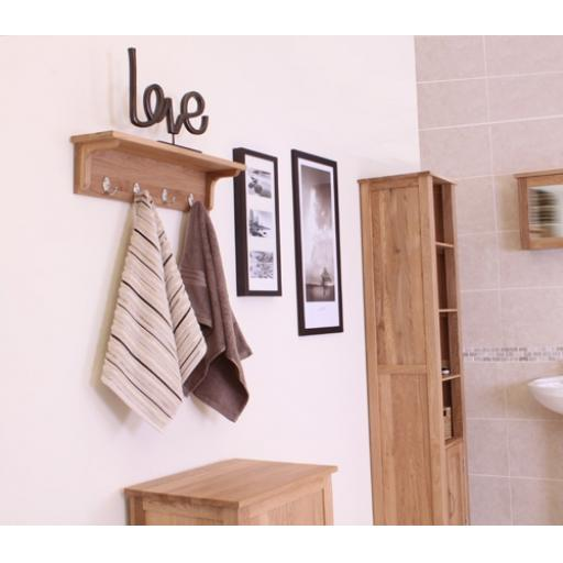 Mobel Oak Wall Mounted Coat Rack