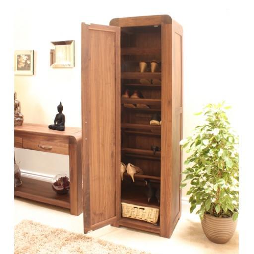 Shiro Walnut Tall Shoe Cupboard Furniture