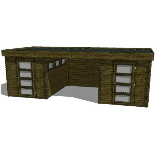 Summerhouse / log cabin Kikbuild Module 650 x 300