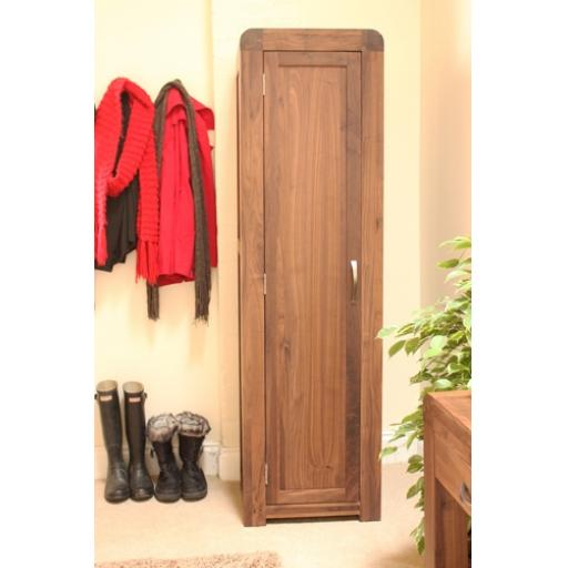 Shiro Walnut Tall Shoe Cupboard Furniture