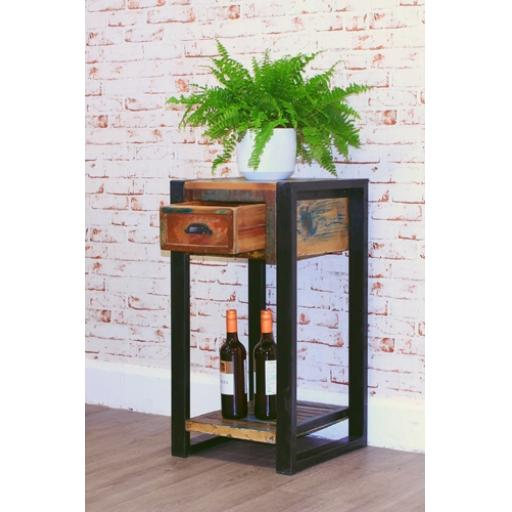 Urban Chic Plant Stand and Lamp Table