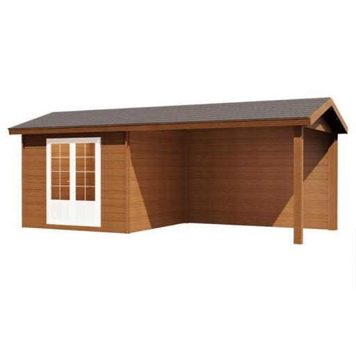 KikBuild Composite Shed Lillian 707X290 Saddleback