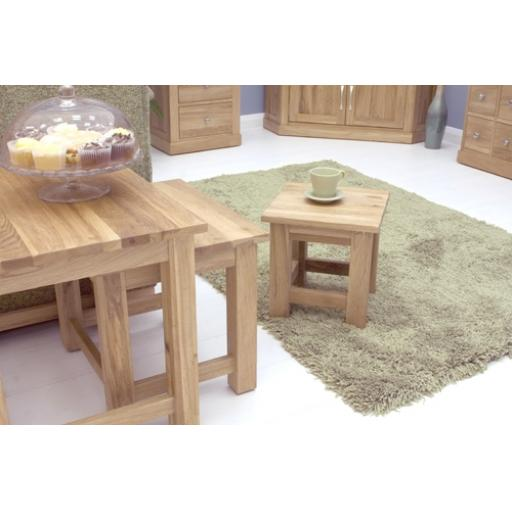 Mobel Oak Nest of 3 Coffee Tables
