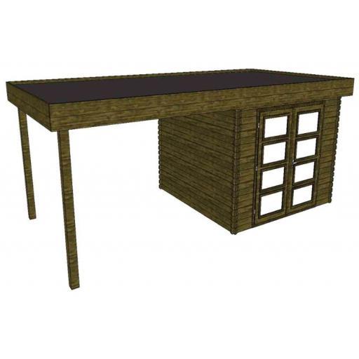 Summerhouse / log cabin Kikbuild Module 600 x 300