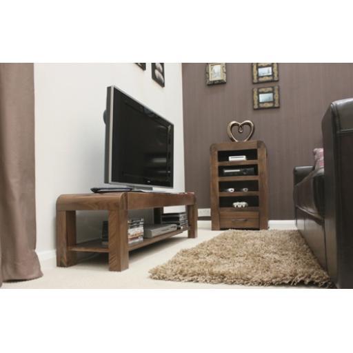 Shiro Walnut Low TV Cabinet