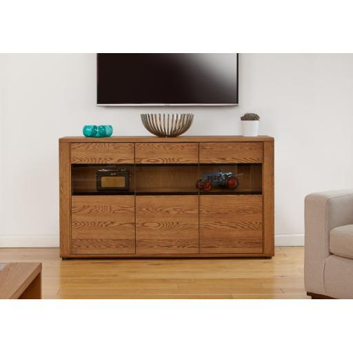 Olten Large Glazed Sideboard Furniture