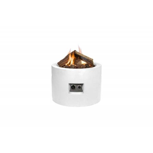 Happy Cocooning Terrace Fireplace Round White